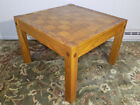 RARE Conant Ball parquet top Oak chess or checkers board coffee or end table