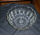 Pressed Glass Serving Bowl Scalloped Edge Clear 10