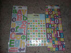 Scrapbooking Letter Stickers Pastels lot of 3