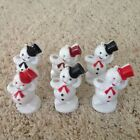 Vintage Plastic Rosbro Frosty Snowman Christmas Ornament Candy Containers