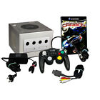 amecube Konsole in Silber + ähnlicher Controller + Spiel Need for Speed Carbon