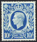 🌟 GB KGVI SG478b - 10s BLUE - 1939 HIGH VALUE - MNH UNMOUNTED MINT - Sc #251a