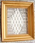 VINTAGE MID CENTURY MODERN DEEP PICTURE FRAME PAINTING PRINT GOLD CREAM 8 x 10