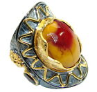 Australian Mookaite Ring size: 6 925 Sterling Silver + Free Shipping  by SilverR