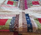 Antique Log Cabin Quilt~Wonderful Colors and Fabrics~Cutter?