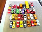 DIECAST PLASTIC + METAL CARS LOT OF 36 CARS TRUCKS BUSES POLICE FIRE ATV EXCEL