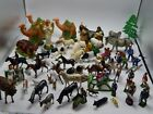 LOT OF 75 VINTAGE FIGURINES HOLIDAY NATIVITY CORRAL BARN SILO