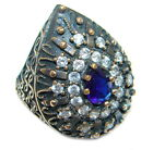 Sapphire Quartz Ring size: 5 1/2 925 Sterling Silver + Free Shipping  by SilverR