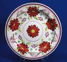 EARLY STAFFORDSHIRE SOFT PASTE PINK LUSTER HAND PAINTED PLATE - CIRCA 1820