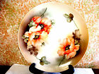 Suhl china germany hand painted white porcelain mulit-color charger.