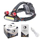 3000LM 8 LEDs 18650 Multifunction fIashlight Long Range Lighting Headlamp
