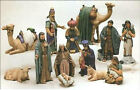 Ceramic Bisque Duncan Christmas Large Nativity Set 14 Pieces Ready to Paint