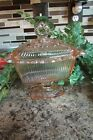 Vintage Indiana Glass Footed Candy Box with Lid Open Lace Edge Pink Glass
