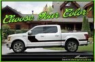 Side Hockey Stripes Graphics Style 1 - Fits 2015 2016 2017 2018 Ford F150 F-150