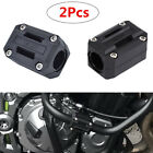 Pair 22/25/28mm Motorcycle Engine Protect Bumper Frame Anti-scratch Guard Block
