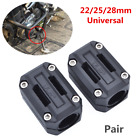 22/25/28mm Universal Motorcycle Engine Protection Guard Bumper Decor Block x2Pcs