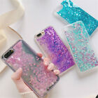 Womens Bling Glitter Quicksand Dynamic Liquid Sparkle Soft Silicone Case Cover