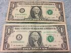 Lot of 2 $1 Birthday US Note LOT (09181998, 03051963)