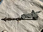Antique Car L R Lightning Rod Weathervane Man Driving Old Car L R B