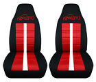Fits Chevy S10 Bucket Front Car Seat Covers Black-red Wxtremezr2ssblazer...