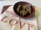 New Primitive/Country Scented  Primitive Blackened Beeswax Heart Bowl Filler