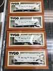 4 pc lot Mantua Tyco HO scale Holly Sugar Operating 2 Bay Covered Hopper new nos
