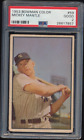 PSA 2 1953 Bowman Color Mickey Mantle # 59