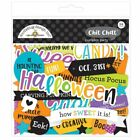 Scrapbooking Crafts Doodlebug Chit Chat Pumpkin Party Halloween Phrases Candy 31