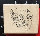 NEW YEARS DAY HOLIDAY FIREWORKS DISPLAY by JRL Design Wood Mounted Rubber Stamp