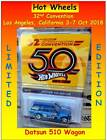 2018 Hot Wheels 32nd Convention Los Angeles 71 Datsun Bluebird 510 Wagon PRESALE
