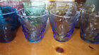 Colorful Anchor Hocking Lido Soreno Juice glasses 6 6oz 2 7oz flat bottom bumpy
