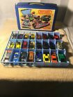 VINTAGE 1976 MATCHBOX 24 CAR COLLECTORS CARRY CASE WITH 24 CARS