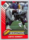 1993  CORTEZ KENNEDY - Kenner Starting Lineup Card - SEATTLE SEAHAWKS - (Color)