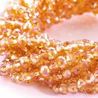 Glass Rondelle Faceted Orange Salmon AB Loose Beads spacer 4mm 6mm 8mm 10mm 12mm