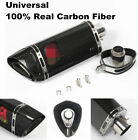 Full 100%Real Carbon Fiber motorcycle exhaust pipe muffler For R6 R1 CBR500 Z750