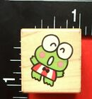 TINY SANRIO KEROPPI CARTOON FIGURE All Night Media Wood Mounted Rubber Stamp
