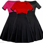 Women Vintage Style Doll Collar Pinup Swing Evening Party Rockabilly Retro Dress
