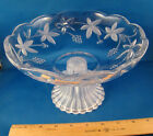 Fruit Bowl Footed Clear Glass 8 1/2