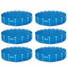 Bestway 18 Foot Round Above Ground Swimming Pool Solar Heat Cover 6 Pack