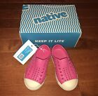 Native Shoes Toddler Jefferson Hollywood Pink Bone White Size C6 New
