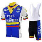 1985 Retro Team Cafe de Colombia Vintage Cycling Jersey Bib Short Kit