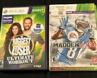 Lot Of 2 Xbox 360 Games The Biggest Loser Kinect  Madden 13 better With Kinect