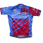 MOTOROLA Cycling Jersey Retro Road Pro Clothing MTB Short Sleeve Racing DIY