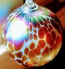 Hand Blown Glass Art Witches Ball or Collectible Ornament Orb
