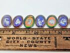Vint Mixed Lot Mercury Glass Foiled Intaglio Glass Zodiac Sign Cabochon Findings