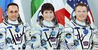 RARE Pictures 3 Space Soyuz TMA 15M with 100 original Autographs Crew Members