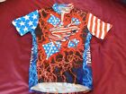 Primal Wear Cycling Jersey American Flyer Large L Vintage USA flag logo mens