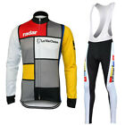 Long Sleeve RADAR LA VIE CLAIRE Cycling Jersey Retro Road Pro Clothing MTB