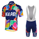 MAPEI Retro Cycling Jersey Bib Short Retro Road Pro Clothing MTB