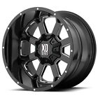 20 Inch Gloss Black Wheels Rims XD Series XD825 LIFTED Jeep Wrangler JK 20x14